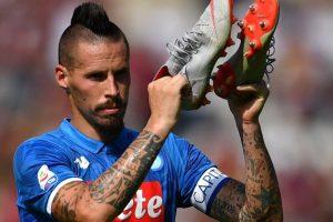 1537864626 Napoli Hamsik 400esima in A. Ancelotti fa il turnover