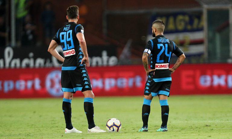 Sampdoria Napoli 3 0 Defrel e Quagliarella show