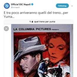 Napoli: La citazione nel tweet scatena i tifosi...c'entra James?