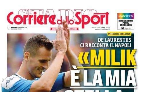 1568153821 Napoli News PRIMA PAGINA Cds quotADL Milik la mia stella 20 gol senza rigori. Nessun rimpianto per Icardiquot