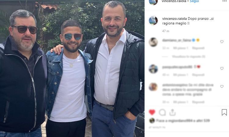 Napoli, Raiola fa da paciere tra Insigne ed Ancelotti