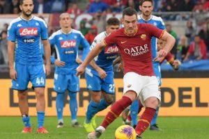 Roma-Napoli, la MOVIOLA LIVE: doppio rigore giallorosso, rosso a Cetin