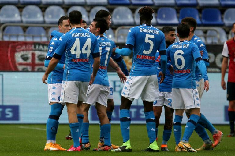 Cagliari-Napoli 1-4   Gol   Tabellino