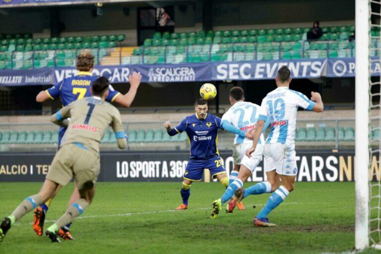 Disastro Napoli, gli azzurri cadono in malo modo a Verona