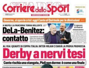 Le principali aperture dei quotidiani italiani e stranieri di martedì 26 gennaio 2021