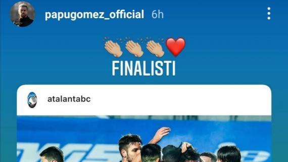 """Atalanta in finale di Coppa Italia, festeggia anche il Papu Gomez: """"Finalisti"""""""