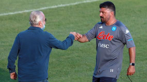 De Laurentiis chiaro: Gattuso non rischia fino quando il Napoli sarà in corsa per la Champions