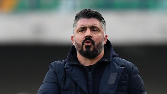 """Napoli, il messaggio di Gattuso alla squadra: """"Non avvilitevi e non scappate indietro"""""""