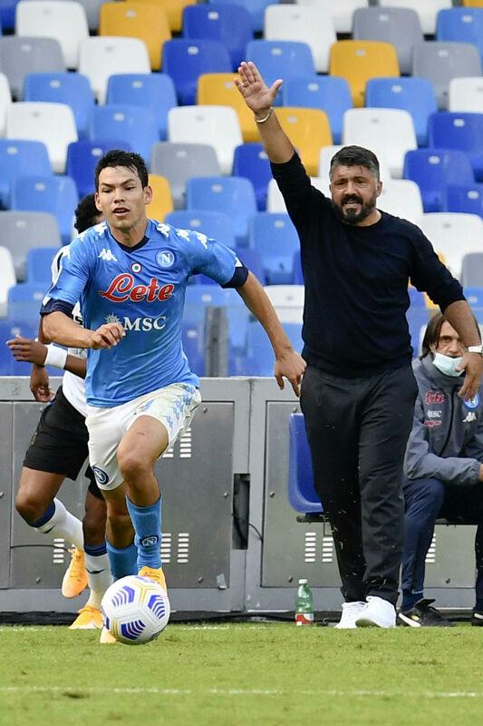 Juve-Napoli, Gattuso rilancia Lozano dal primo minuto
