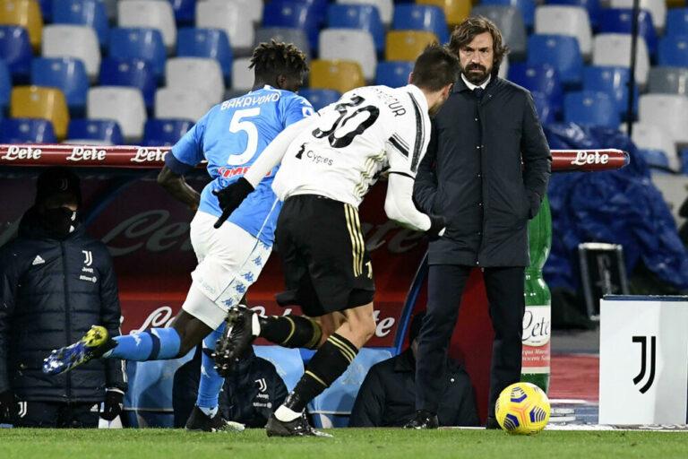 """Juve-Napoli, Pirlo: """"Positivi? Rispettiamo il protocollo e come sempre giocheremo la partita"""""""