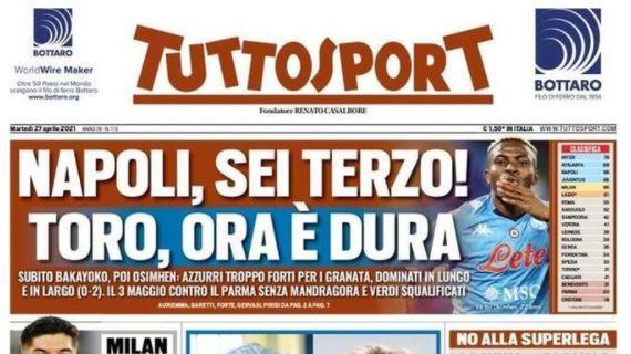 Le principali aperture dei quotidiani italiani e stranieri di martedì 27 novembre 2021