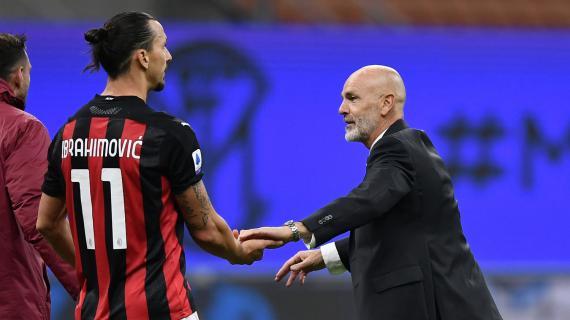"""Milan, Ibrahimovic su Pioli: """"Ha la mentalità giusta. Mi sfida chiamandomi la mattina presto"""""""