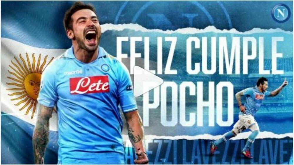 Lavezzi compie 36 anni: l'emozionante video di auguri del Napoli
