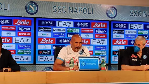 """Napoli, Spalletti: """"L'attacco è il reparto da non toccare. Più 5 sulla Juve? Non conta nulla"""""""