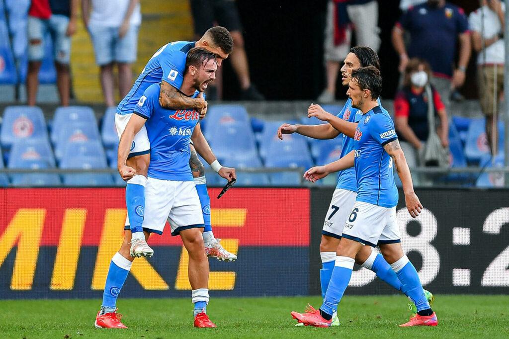 Il Napoli espugna Marassi: decide un gol di Petagna