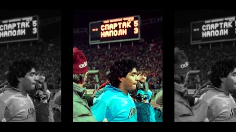 Napoli-Spartak Mosca, il video del club russo: ci sono anche Maradona e il Cardinal Voiello